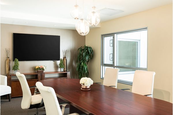 Executive Conference Room with LCD HD monitor and Skype at 1600 Vine Apartment Homes, CA, 90028