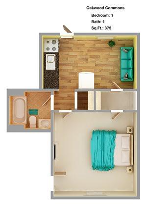 1 bedroom  1A