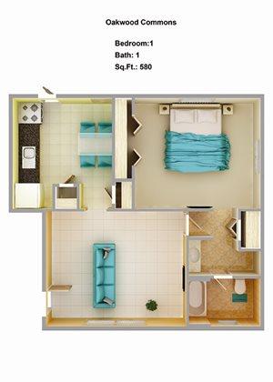 1 Bedroom 1B
