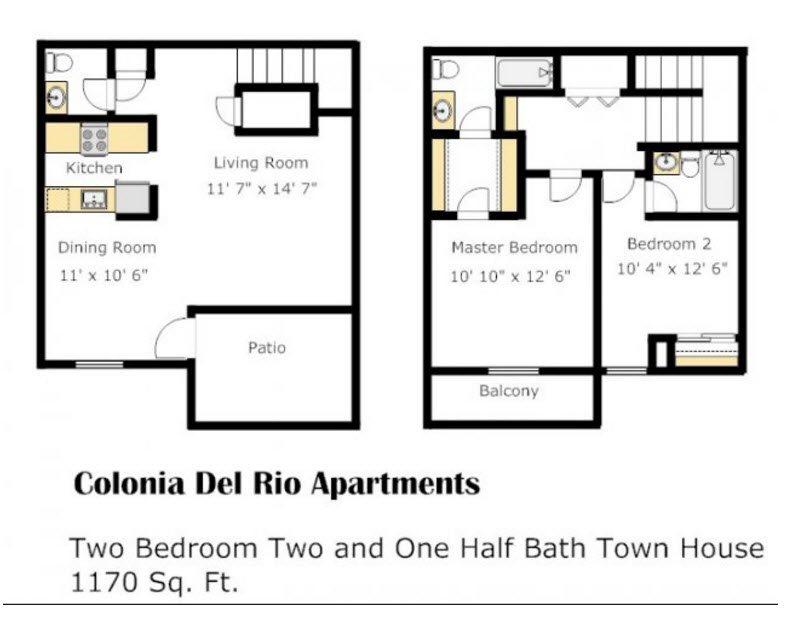 Colonia - Palo Verde Floorplan atColonia and Hacienda Del Rio Apartments in Tuscan, 85718