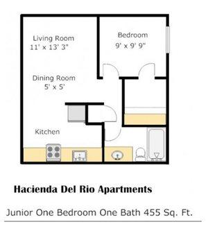 Hacienda - Cypress Floorplan at Colonia and Hacienda Del Rio Apartments in Tuscan, AZ 85718
