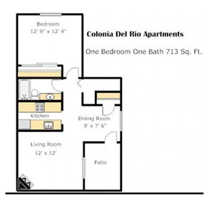 Colonia - Mesquite Floorplan at Colonia and Hacienda Del Rio Apartments in Tuscan