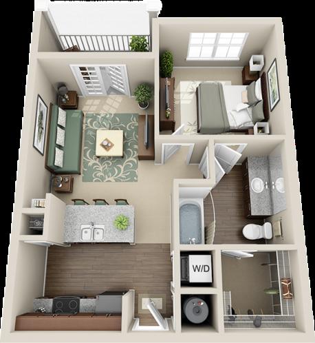 A1 Balcony Floor Plan 2