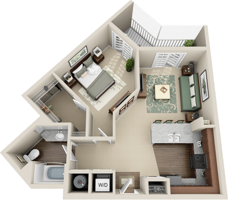 A2 Balcony Floor Plan 3