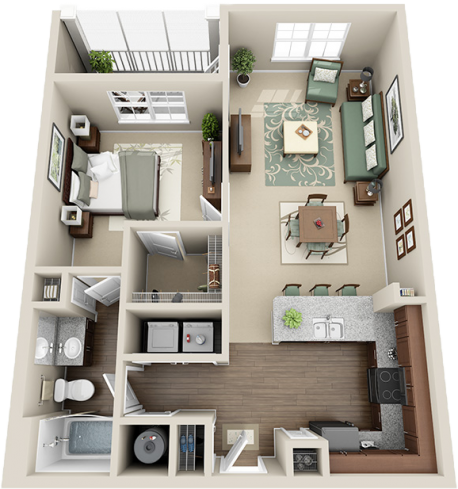 A3 Balcony Floor Plan 4