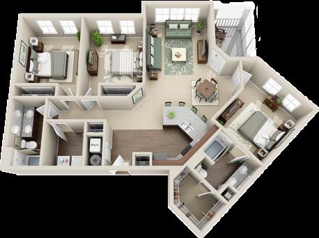 C1 Balcony Floor Plan 7