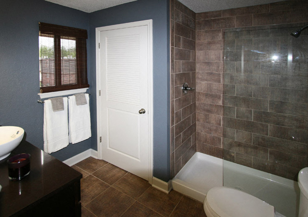 Renovated bathrooms with new finishes at Johnson Med Center in Kansas City, KS