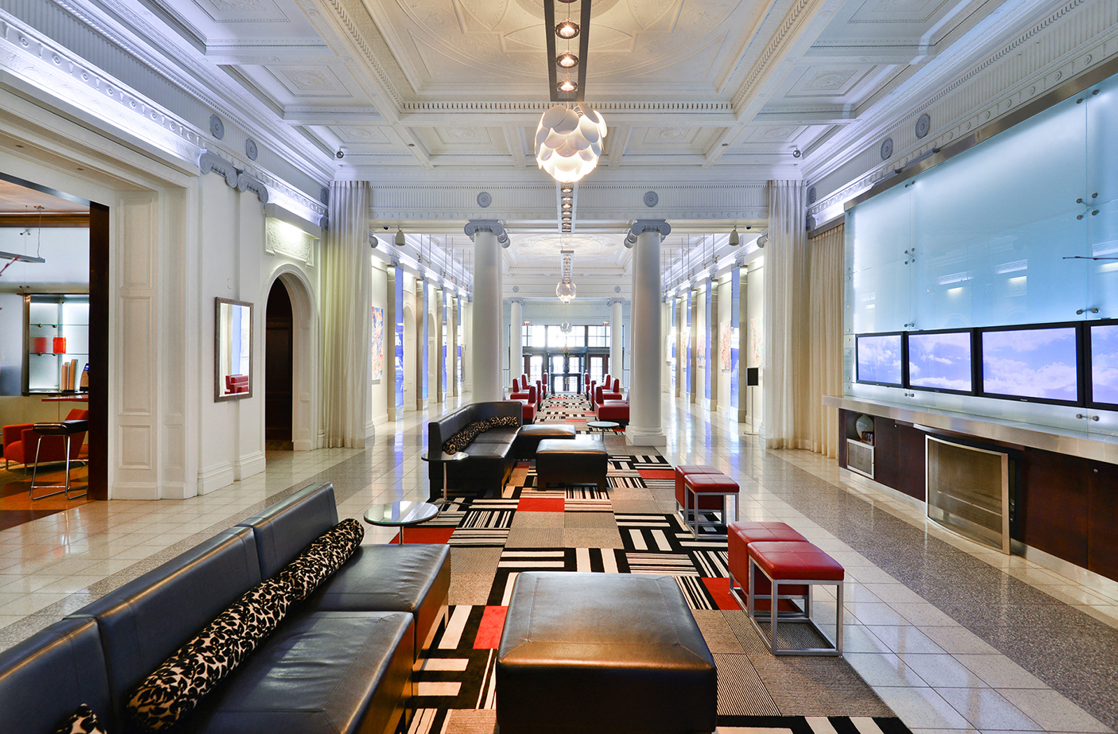 Lobby At The Belmont By Reside Apartments, Chicago, Illinois