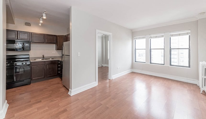 One-Bedroom Apartments for Rent at Reside on Clarendon, Chicago, IL, 60613
