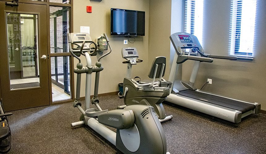 Fitness Center with Cardio Equipment at Reside on Clarendon, Chicago, IL, 60613