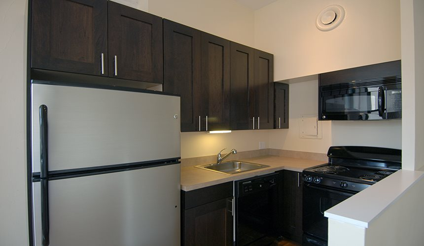 Renovated Kitchens at Reside on Wellington, Chicago, IL,60657