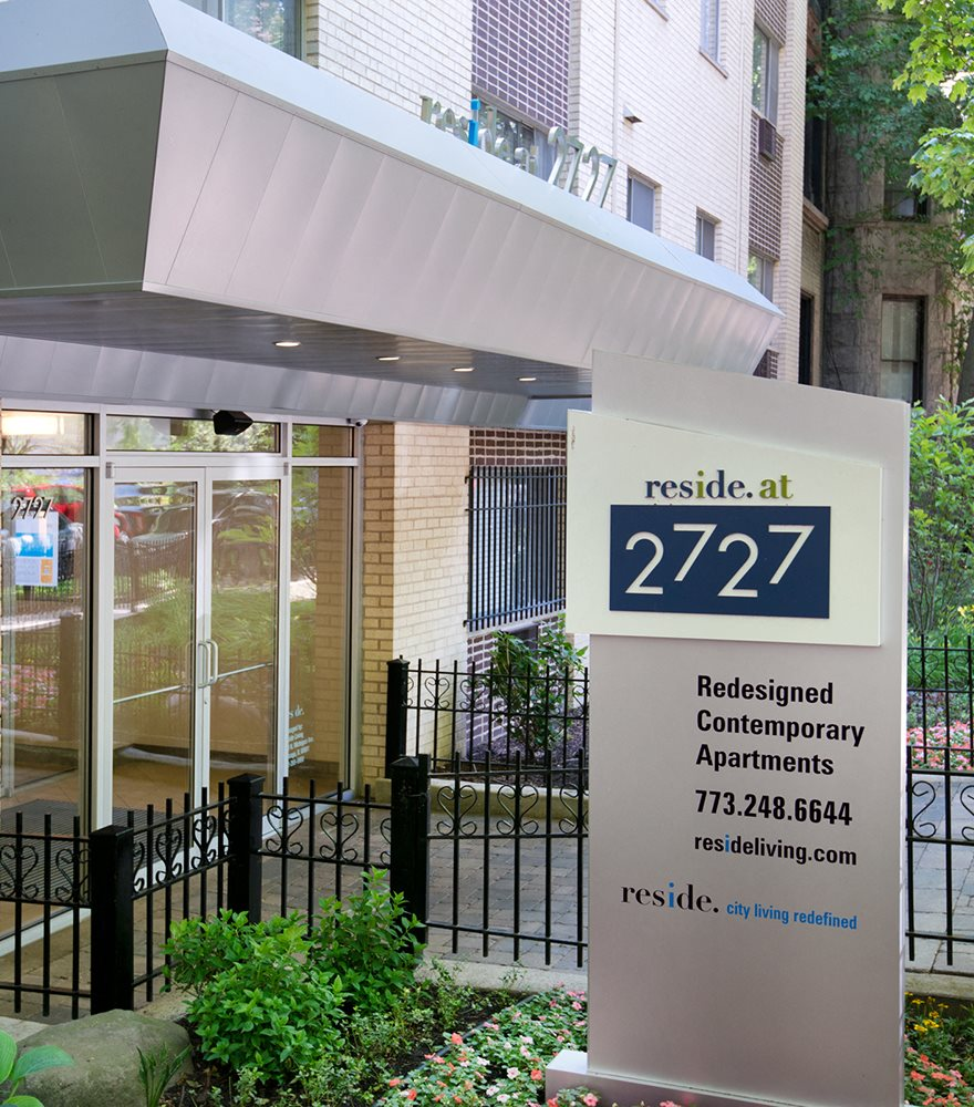 Reside 2727 Signage at Reside at 2727 Apartments, 60614, Chicago