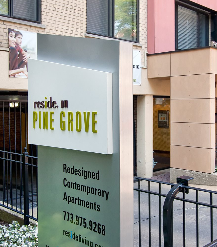 Reside on Pine Grove Signage