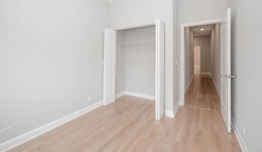 Hardwood Floors Throughout the Apartment at 1500 N Damen, Chicago, IL,60622