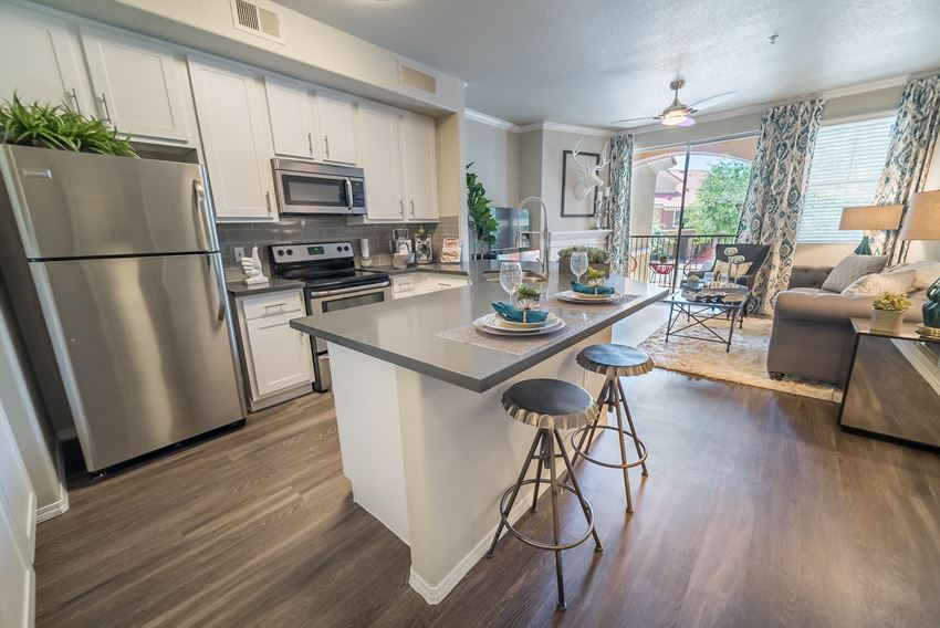 Open Kitchen with Quartz Countertops | Apartments For Rent In Scottsdale AZ | The Catherine Townhomes