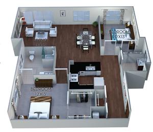 Floor plan at Linea Cambridge, Massachusetts