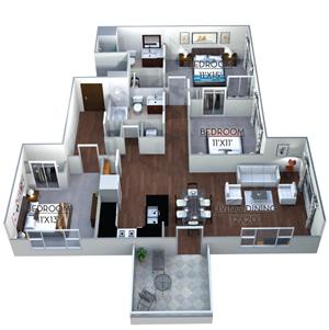Floor plan at Linea Cambridge, Massachusetts, 02140
