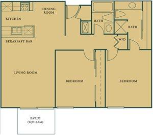 2 Bed 2 Bath The Walnut Floorplan at Hills at Hacienda Heights, Hacienda Heights, CA, 91745