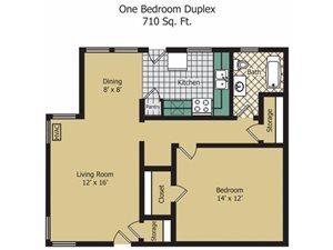 One Bedroom Duplex