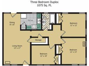 Three Bedroom Duplex