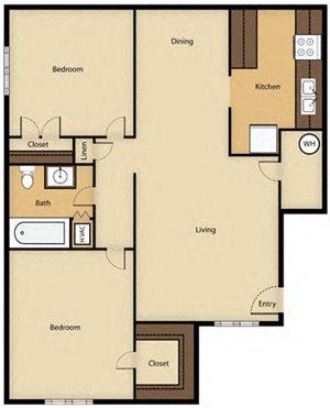 Arbor Place Apartments Floor Plan Terrytown, LA