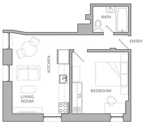 One Bedroom K1