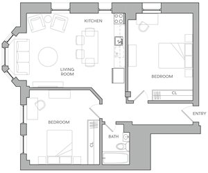Two Bedroom K1