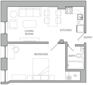 One Bedroom K2