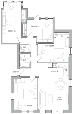 Four Bedroom H