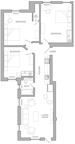 Three Bedroom E1