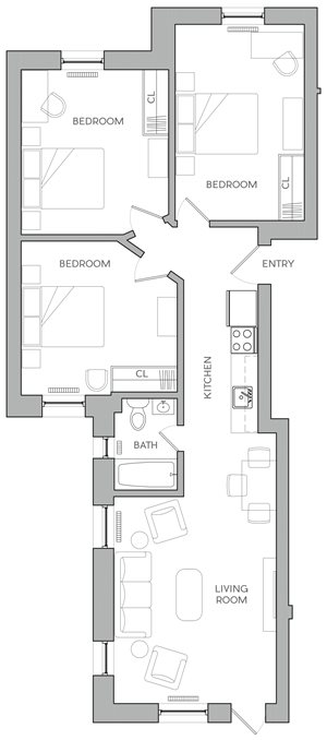 Three Bedroom E3
