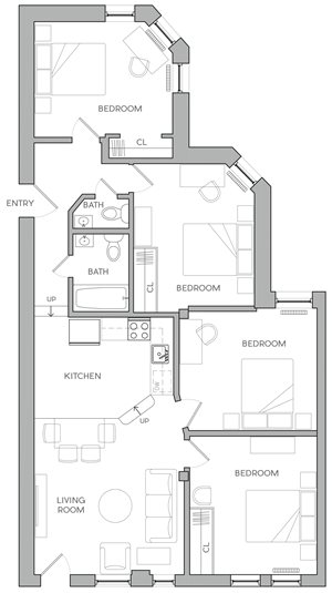 Four Bedroom E1