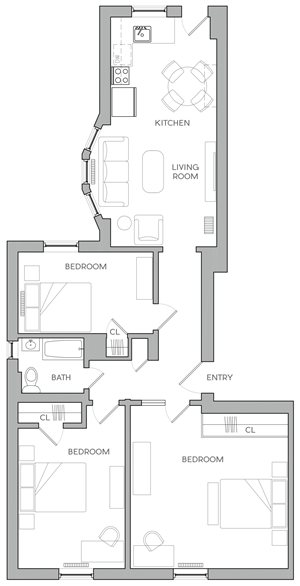 Three Bedroom B2