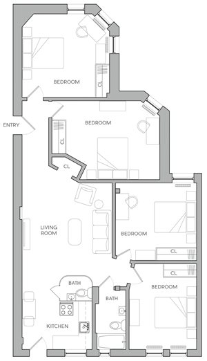 Four Bedroom E2
