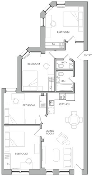 Four Bedroom F