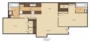 Center Ridge Apartments Floor Plan Duncanville TX