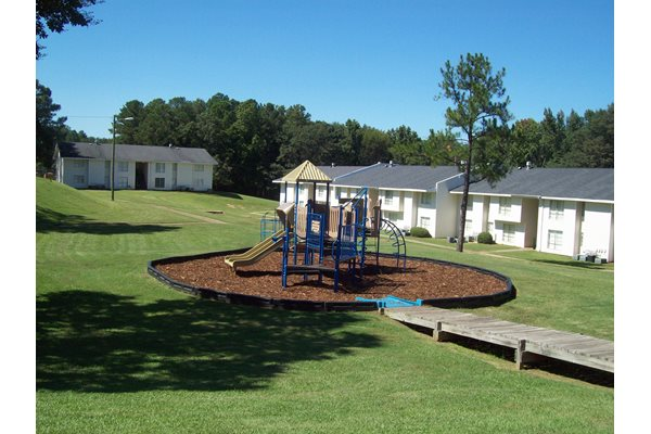 Apartments with a playground
