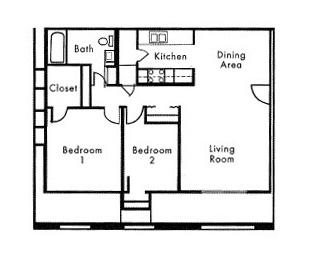 2 Bed 1 Bath Section 8