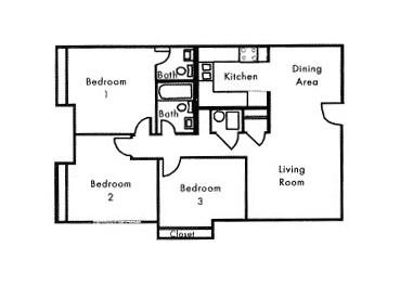 3 Bed 1.5 Bath Section 8