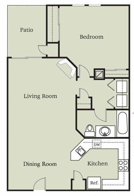 Aragon w/Carport Floor Plan 2