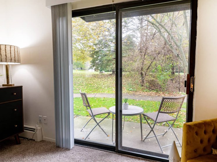 Grand Rapids apartments with private patio
