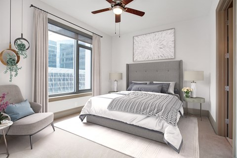 Large Bedroom with Ceiling Fan