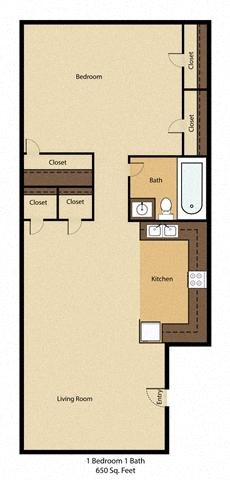 One Bed One Bath