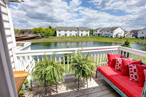 College Park Apartments Patio View