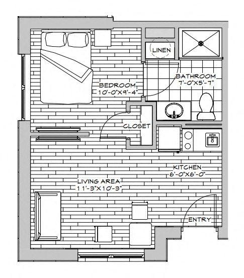 Studio Unit Floor Plan 2