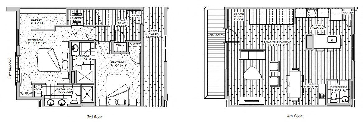 Penthouse - 2 Bedroom Floor Plan 4