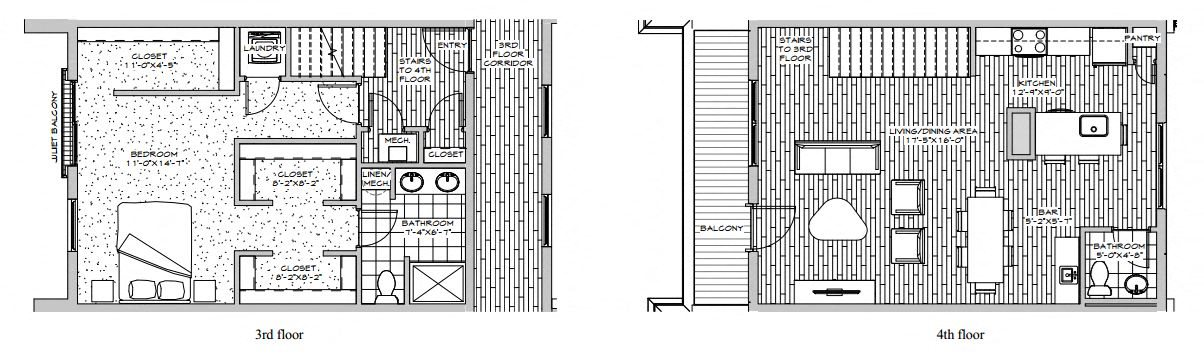 Penthouse - 1 Bedroom Floor Plan 3