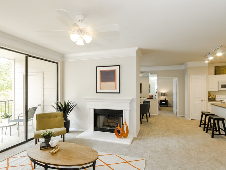 Spacious Living Rooms With Attached Balcony at this Community