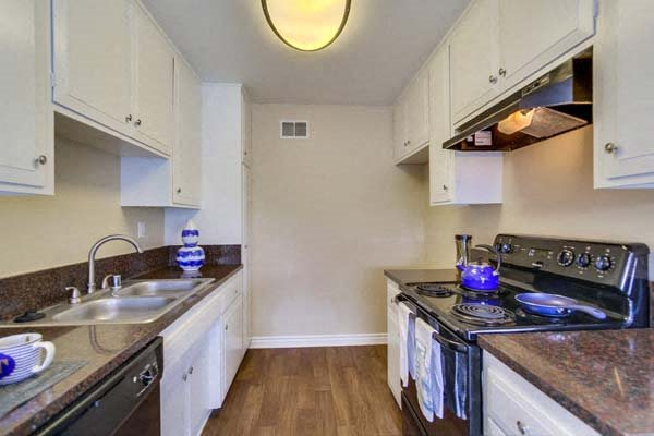 Fully equipped kitchen at Terramonte Apartment Homes, Pomona, CA