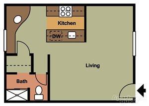 Studio Floorplan at Terramonte Apartment Homes, 91767, California
